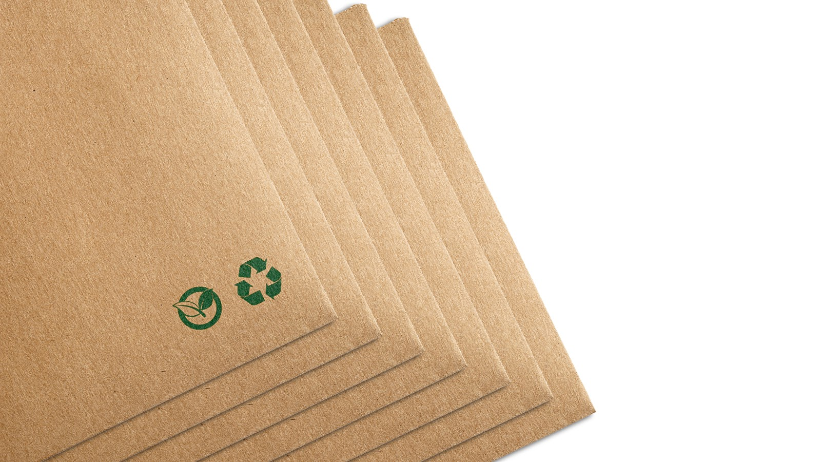 Recycled envelopes with green sustainability icons.jpg